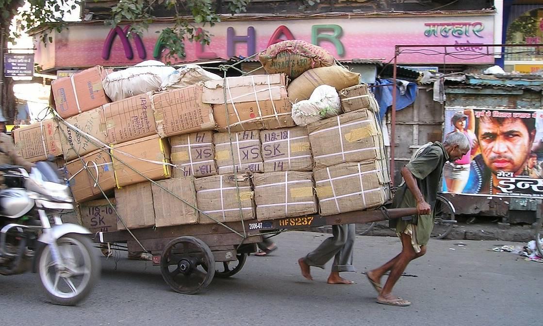Desde un taxi en Bombay